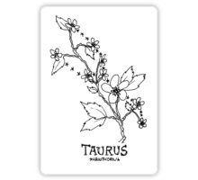 Floral Constellation - Taurus Sticker