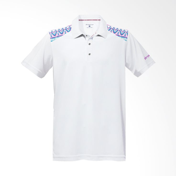 Svingolf Tribal Polo White Baju Golf