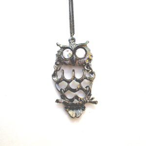 Nostalgia Collection: 1970s Movable Owl with Swarovski Crystal Clear Eyes SHOP ONLINE: www.etelage.com