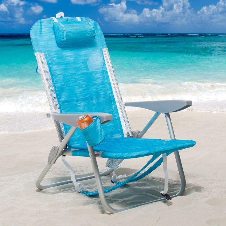 Outdoor Rio Backpack Chair with Mesh Trim and Cooler - SC543-7229