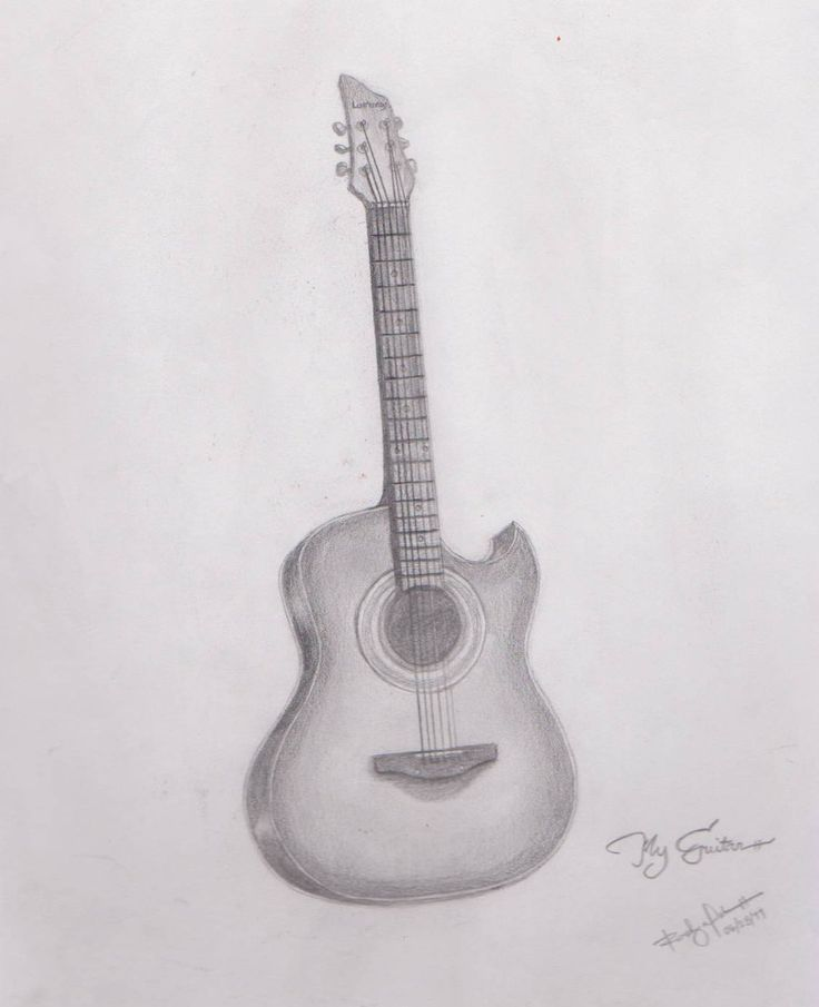 pencil+drawings+of+guitars | My Guitar Drawing by ...