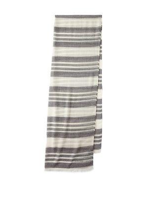 80% OFF Amelia Toro Women's Beige/White Stripe Silk Cashmere Scarf (Navy/ Wht)