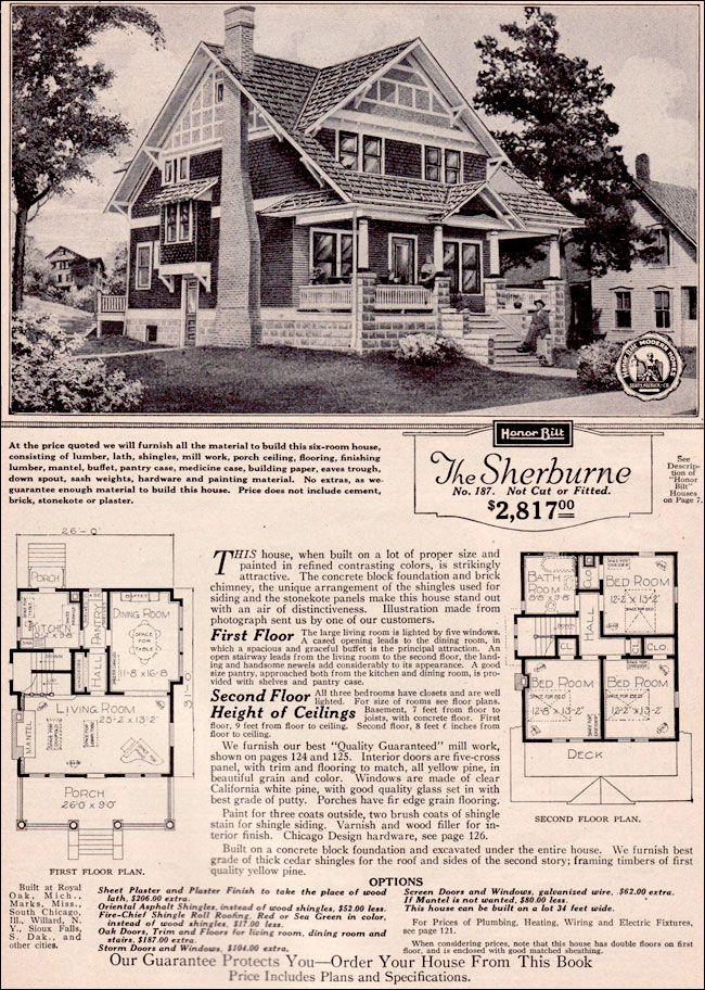 234 best sears kit homes images on pinterest for Craftsman kit homes
