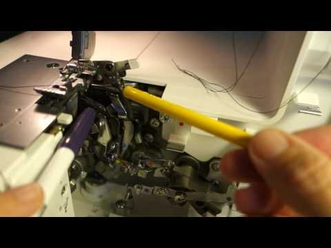 Pfaff Coverlock 3.0 Wie stellt man den 4-Faden-Overlockstich ein?