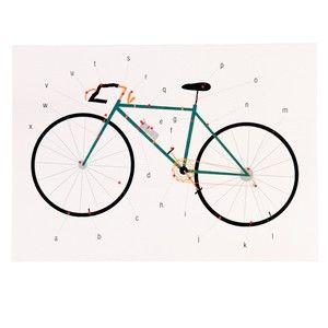 Prázdné narozeninové přání s obálkou Rex London Anatomy Of a Bicycle