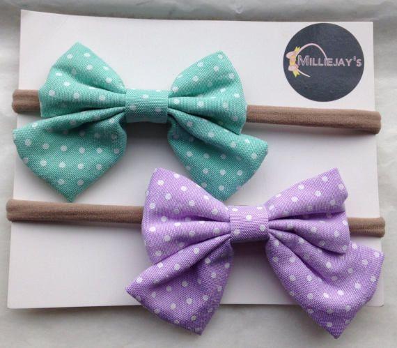 Nylon headbands, baby girls headbands, baby Headband set, newborn headbands, bow headbands, headband set Set of 2 soft nylon headbands perfect for newborn upwards  https://www.etsy.com/uk/shop/Milliejays