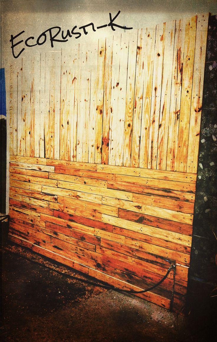 Revestimiento decorativo con madera de palets