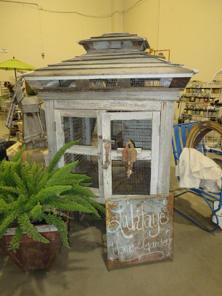 chicken coop | vintage distressed lumber | darling cupola roof | LoOvE!!