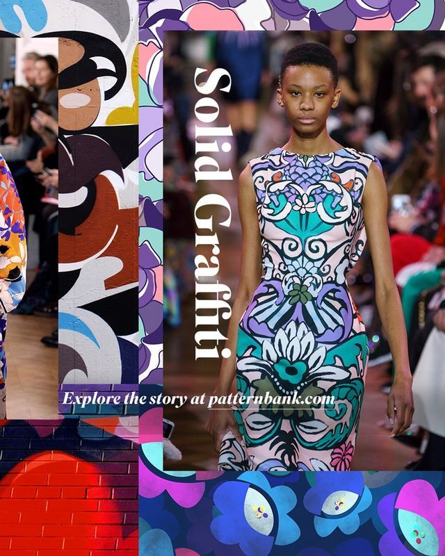 Spring Summer 2020 Print Pattern Trend Solid Graffiti Print
