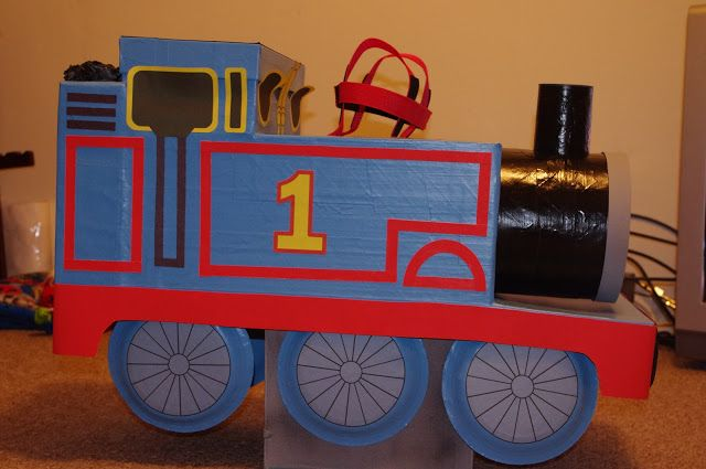 My son is a Thomas fanatic, so I figured if I could make him a Thomas costume I'd be his hero forever. I had seen some Thomas costumes ...