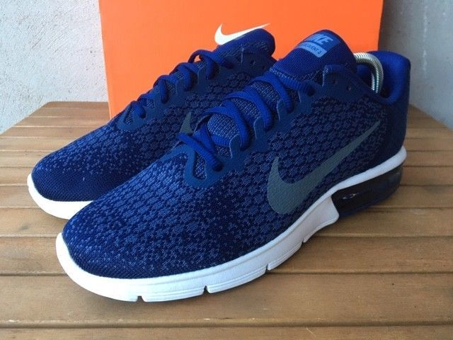 06841c3f86 Nike Air Max Sequent 2 Size 8 UK Mens Trainers EU 42.5 Binary Blue 852461- 406 #Nike #RunningShoes