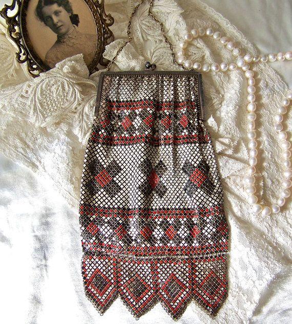 Vintage Mesh Bag Whiting and Davis Original by cynthiasattic, $375.00
