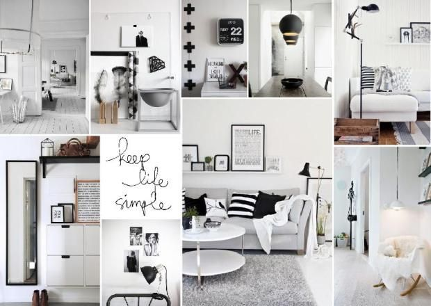 Scandinavian Inspired Interior Mood Board Focused On Simplicity With A Black And White Palette