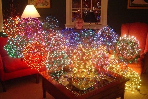 If you're tired of the same old outdoor holiday decorating