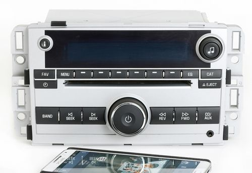 Chevrolet Equinox 2007 Silver AMFM CD Radio Aux Input w Bluetooth Music 15945856