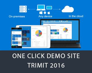 Partners can demo Dynamics NAV 2016 with TRIMIT on our Demo Site using a computer, tablet or smartphone. A demo environment is created per customer