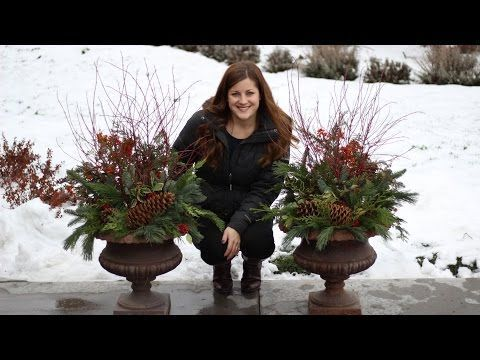 How to Make a Winter Planter - YouTube