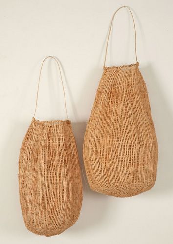 Beautiful Dilly bags.. Wilma Walker (Ngadijina Babimilbirrja), Black Palm Dilly Bags 2005, Collection Tamworth Regional Gallery http://www.craftaustralia.org.au/library/review.php?id=textiles_tamworth