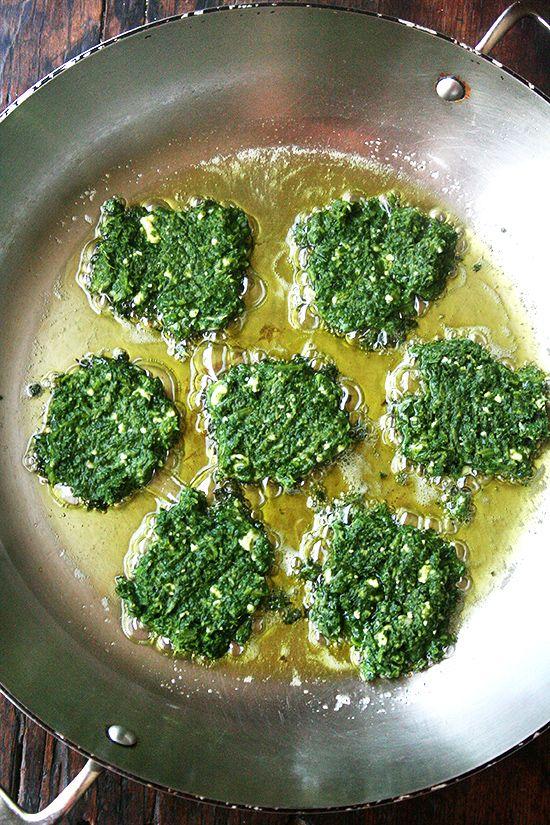 Dark Leafy Green Fritters