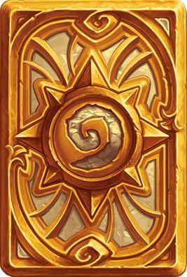 Card Back: Golden Celebration Artist: Blizzard Entertainment