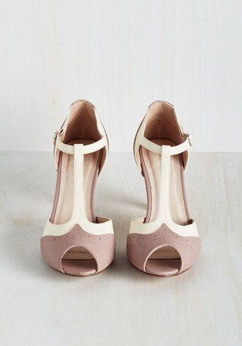 Going to Gait Lengths Heel in Mauve | Mod Retro Vintage Heels | ModCloth.com