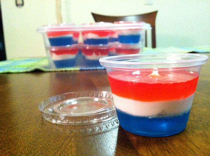 Will Work for Shoes and Vodka: Red, White & Blue Jello Shots!
