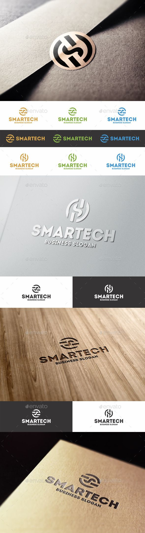 Smart Technology - S Letter Logo - Letters Logo Templates