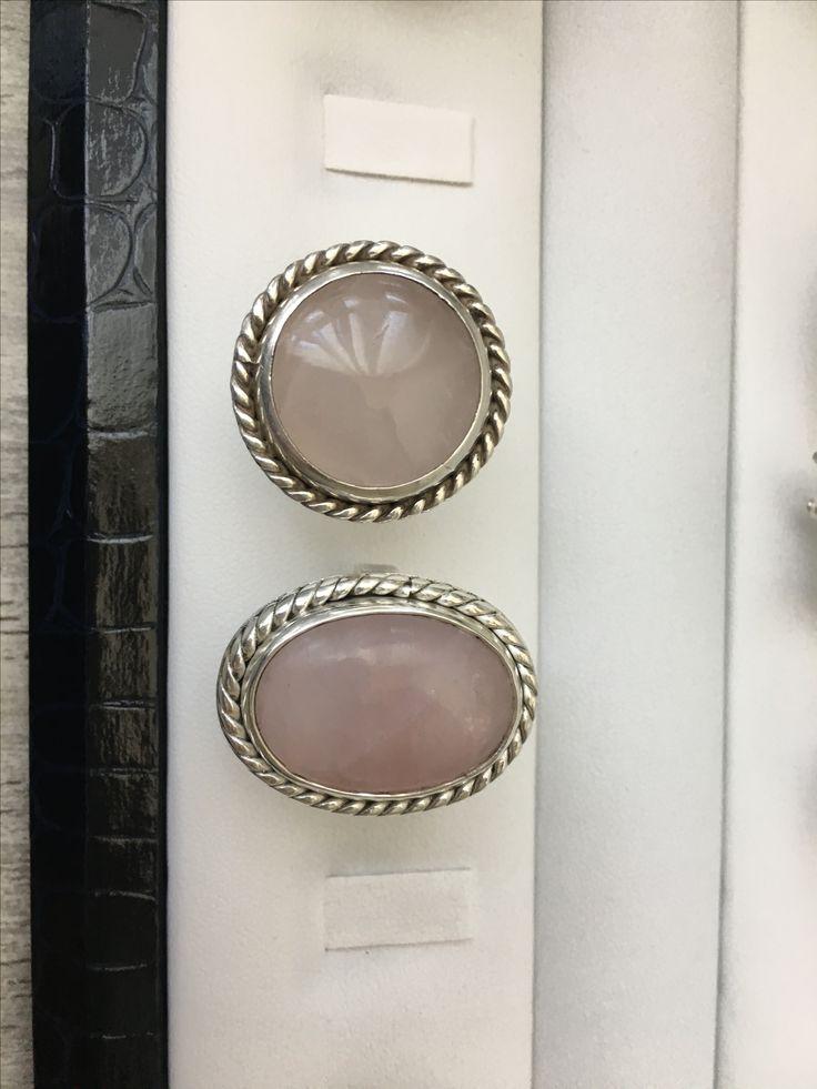 Anillos de plata de 950 con cuarzo rosado