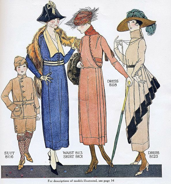 January 1918 Fashion    From the January 1918 issue of McCall's magazine.