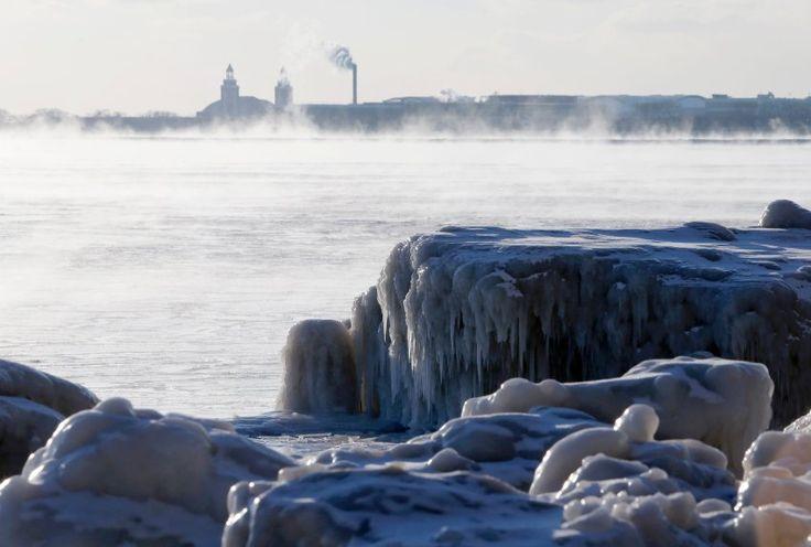Für Teile der Bundesstaaten Michigan, Indiana, Ohio, Kentucky, und West Virginia werden Tiefsttemperaturen von minus 29 Grad Celsius vorhergesagt.