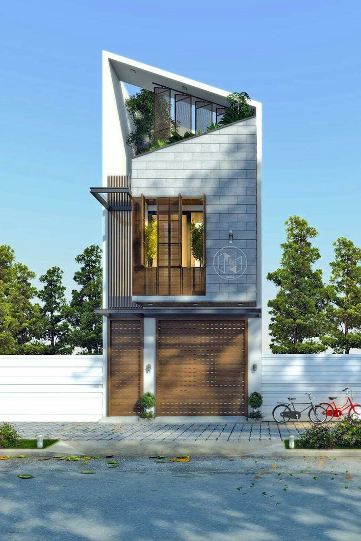 Narrow house design Skinny block house designs