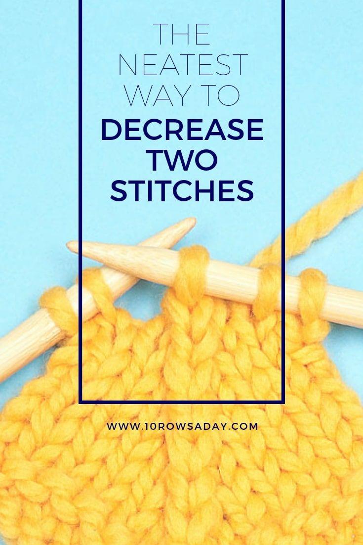 A maneira mais pura de diminuir dois pontos | 10 linhas por dia #knitting #howto #tutor ...