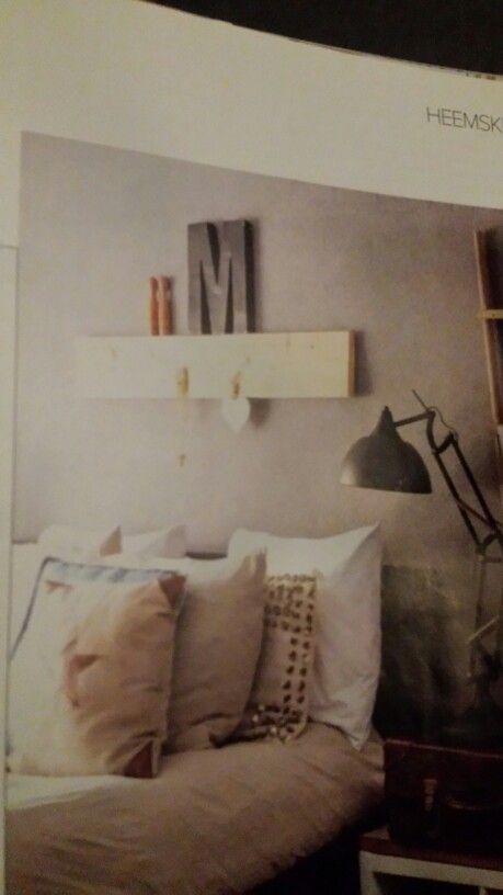 17 beste afbeeldingen over steigerhout op pinterest for Plank boven bed