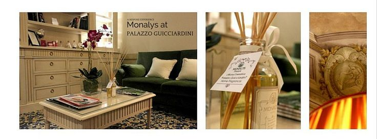 Monalys at Palazzo Guicciardini. Here the Limited Edition Palazzo Guicciardini Home Fragrance.