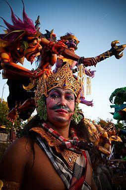 Nyepi Day festival parade in Pecatu
