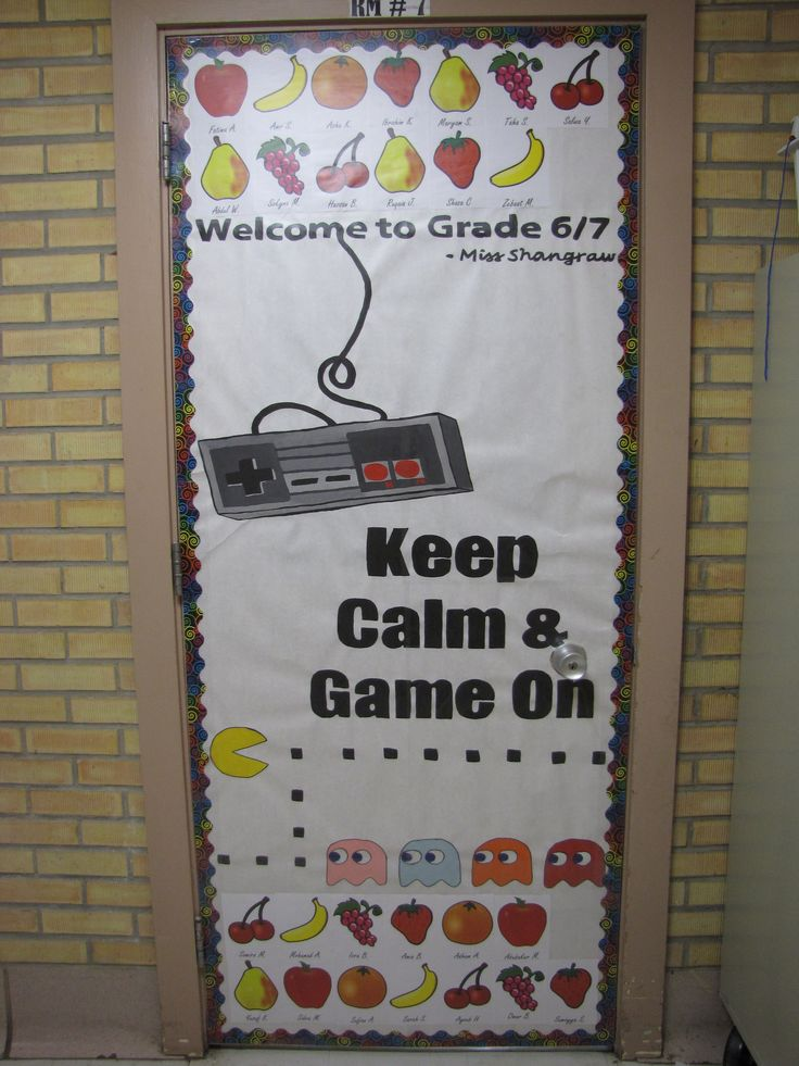 School Classroom Decor Games ~ Video game theme classroom door design the second grade