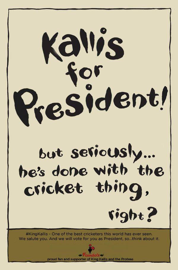 Kallis for President!