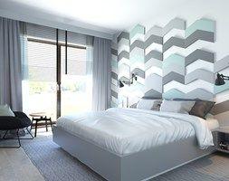 63 m2 - Średnia sypialnia małżeńska z balkonem / tarasem, styl nowoczesny - zdjęcie od ADV Design
