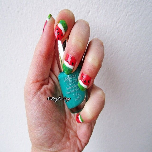Blogger Angelus Says: WATERMELON NAILS! @pupamilano. Made in Italy. My post here - http://angelussays.blogspot.it/2014/08/gli-smalti-pupa-lasting-color-lasting.html - On the side you can choose your language. #angelussays #blogger #blog #post #musthave #tendenza #moda #style #mood #fashionblog #fashionista #shopping #pupa #nail #unghie #smalto #vernis #lastingcolor #nailart #watermelon #anguria #look #lookoftheday #lookbook #detail #mode #beleza