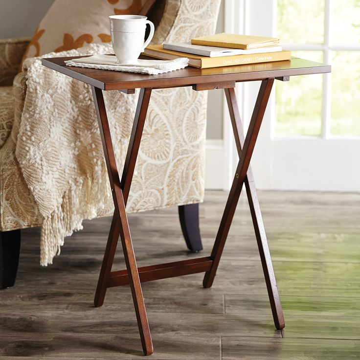Lucy Brown Tv Tray Set Natural