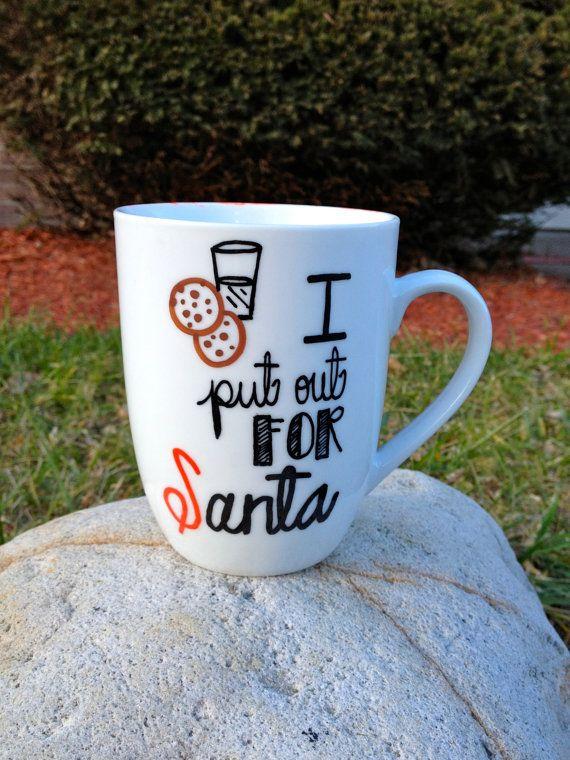 Naughty Christmas Mug. I Put Out for Santa. by TheHomemadeHipster, $15.00
