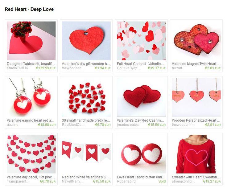 Red heart - deep love #Heart #Love #Valentine #HappyValentine #Etsy