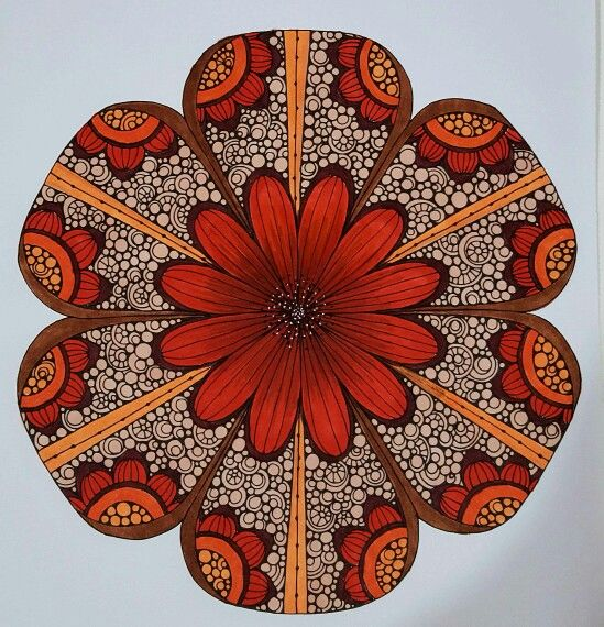 Fall is here!  Colored by Vicki Patterson using markers. A Valentina Harper design.