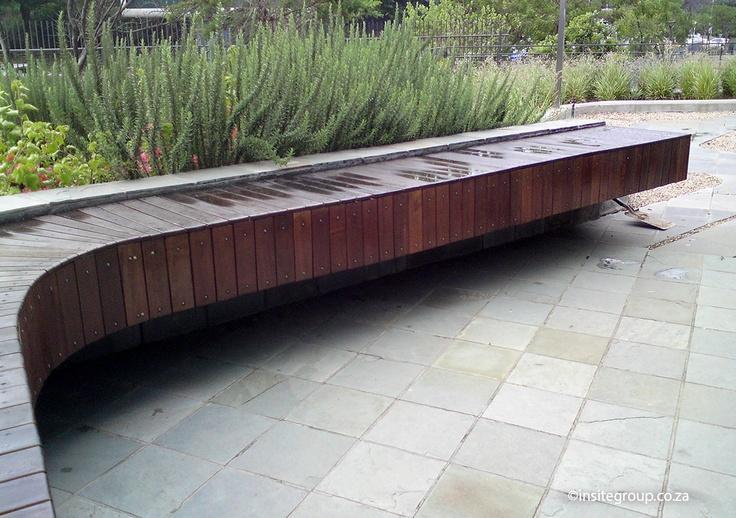 Bench design by Insite landscape Architects
