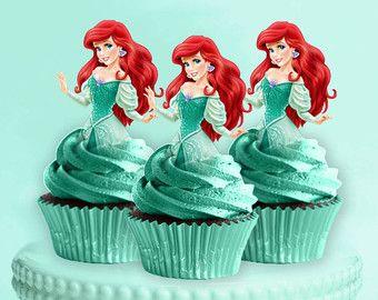 Ariel Cupcake Toppers la Sirenetta Principessa di CreativeTouchhh