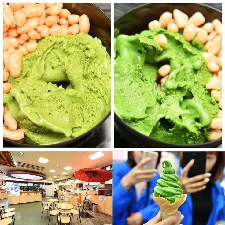 Surprisingly delicious green tea ice cream!  #japankuru #100tokyo #icecream #maccha #greentea #asakusa #delicious #f4f #followmeplease #instafood #instagood