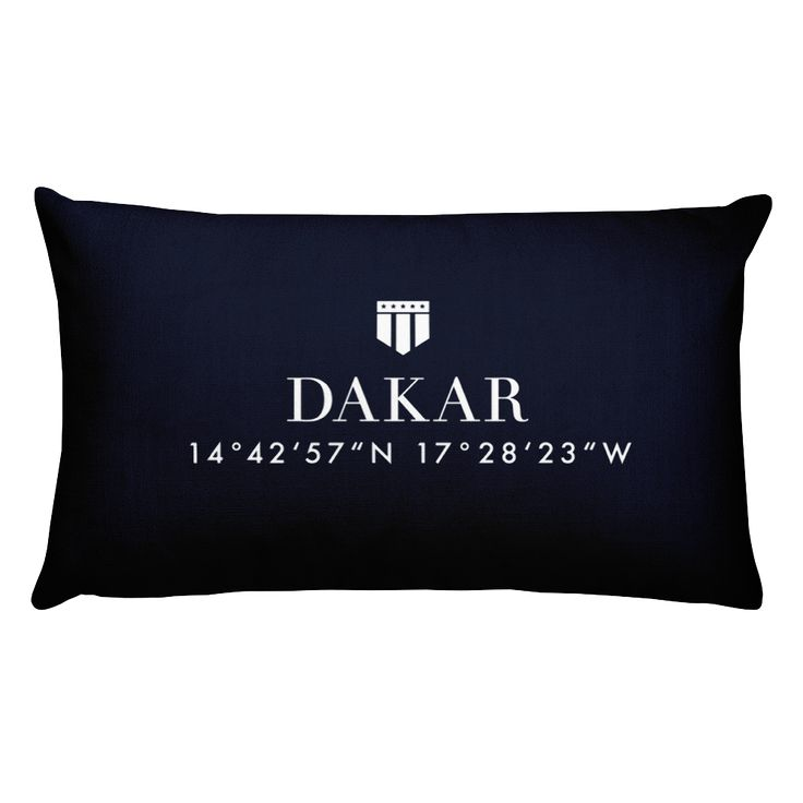 Dakar, Africa Pillow with Coordinates