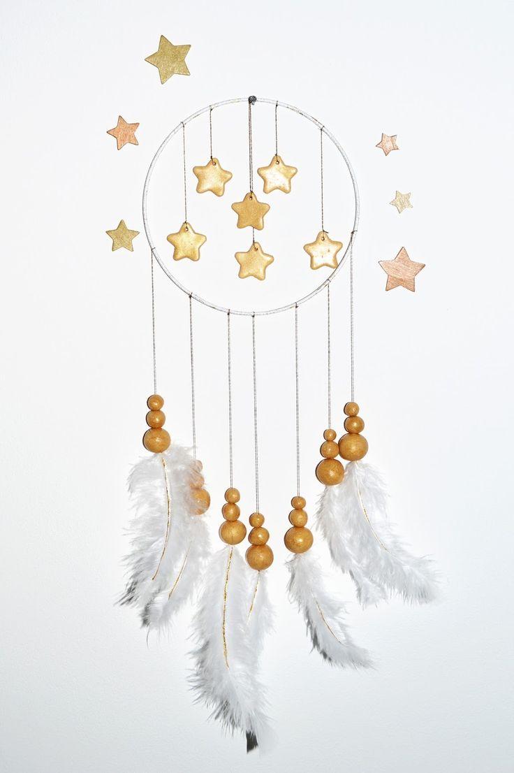 Gabulle in Wonderland: DIY spécial Noël #2 : Attrape-rêves blanc et or