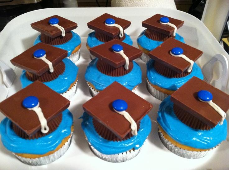 Josh's K-5 graduation cupcakes.