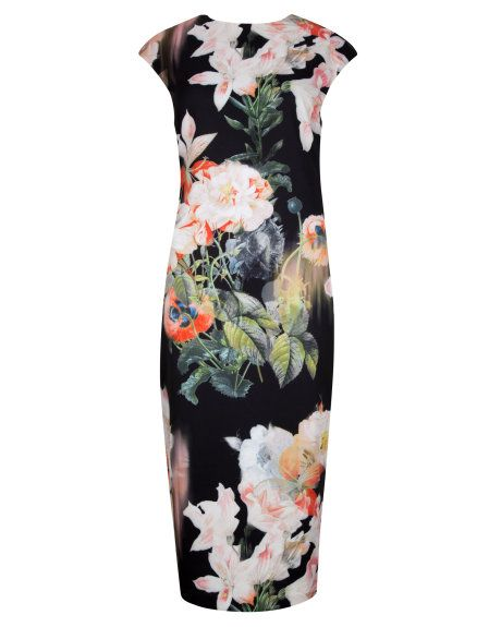 Opulent Bloom print dress - Black | Dresses | Ted Baker Bridesmaid dress